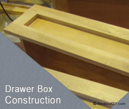 drawer box construction