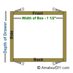 drawer box dimensions