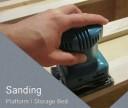 sanding bed frame