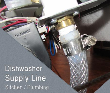 Dishwasher Water Supply Line Installation