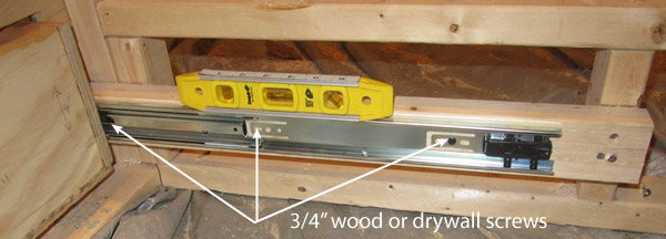 attaching drawer slides