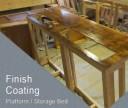 Finish Coating Platform Bed