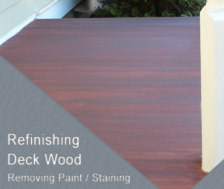 Refinishing Deck Wood