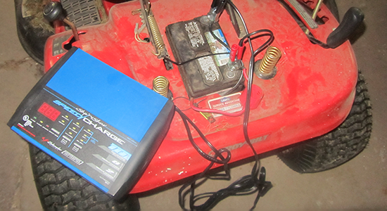 lawnmower battery charger