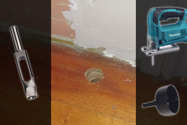 baseboard hole fix