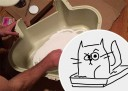 Does the cat scratching at the litter box wake you up at night?